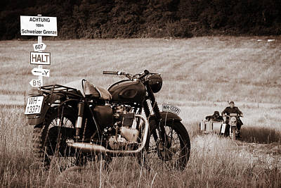 Escape Photograph - The Great Escape Motorcycle by Mark Rogan