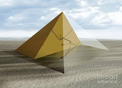 The Great Pyramid, Egypt Art Print by Claus Lunau