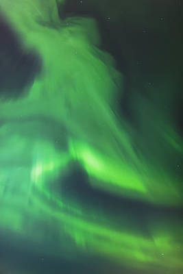 The Green Northern Lights Corona Print by Kevin Smith