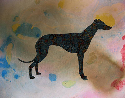 Greyhounds Mixed Media - The Grey by Celestial Images