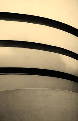 Photograph - The Guggenheim In Sepia by Rob Hans