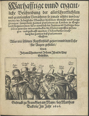 The Gunpowder Plot Conspirators Art Print by British Library