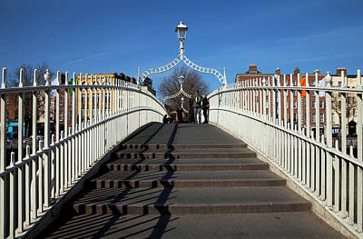 Hapenny Photograph - The Hapenny Bridge Originally Called by Panoramic Images