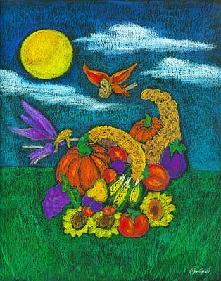 Pastel - The Harvest by Diana Haronis
