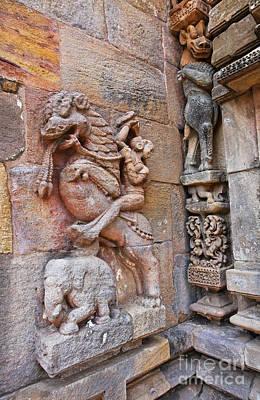The Hindu Temple Of Brahmeswar Mandir In Bhubaneswar India Art Print