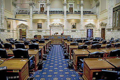 Maryland Photograph - The Historic House Chamber Of Maryland by Panoramic Images