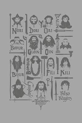 The Hobbit Wall Art - Digital Art - The Hobbit - The Company by Brand A