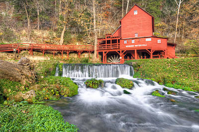 Photograph - The Hodgson Water Mill - Missouri by Gregory Ballos