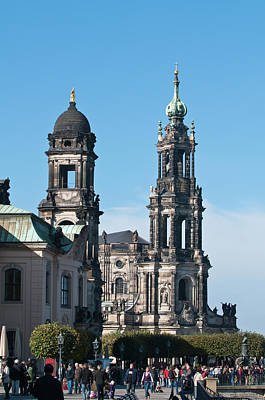 Dresden Photograph - The Hofkirche (church Of The Court by Michael Defreitas