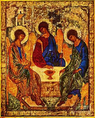 Rublev Trinity Painting - The Holy Trinity by Doc Braham