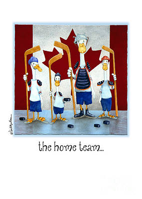 Canadian Winter Painting - The Home Team...  by Will Bullas