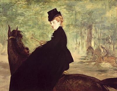 Edouard Manet Painting - The Horsewoman by Celestial Images