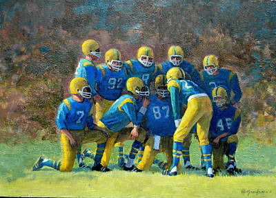 Painting - The Huddle by Mel Greifinger