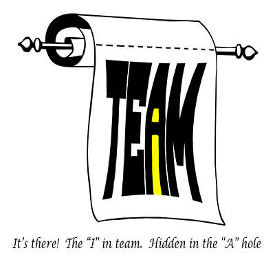 Subliminal Photograph - The I In Team by Steve Harrington