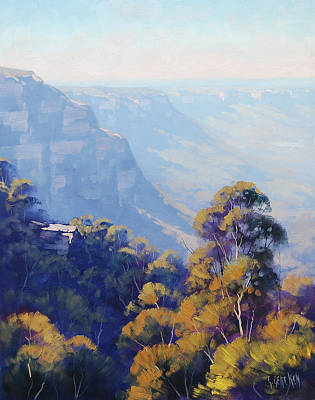 Neck Painting - The Jamison Valley by Graham Gercken