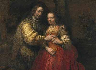 Rembrandt Painting - The Jewish Bride by Celestial Images