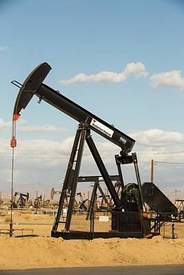 The Kern River Oilfield In Oildale Art Print