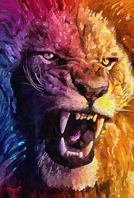 Lion Painting - The Lion King by Anthony Mwangi