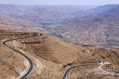 The King's Highway At Wadi Mujib Jordan Art Print by Robert Preston