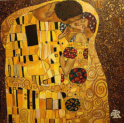 Painting - The Kiss by Marwan  Khayat