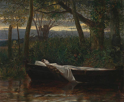 Image result for lady of the lake in painting