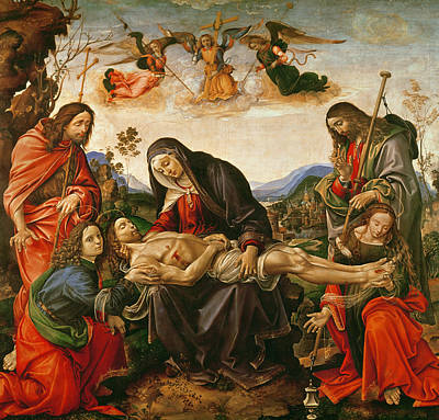 Disciples Painting - The Lamentation Of Christ by Capponi