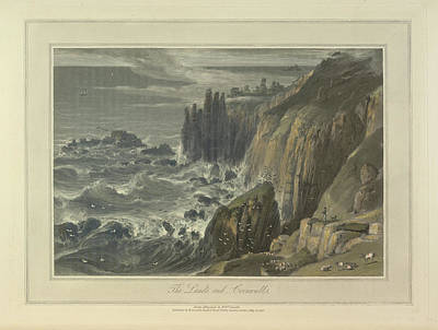 Sea And Rocks Photograph - The Land's End by British Library