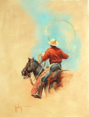 Roper Painting - The Lasso by Abigail Gutting