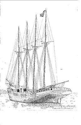The Last Wooden Ship Art Print by L D Williams