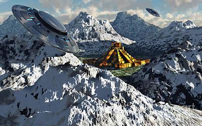 Snow-covered Landscape Digital Art - The Legendary South American Golden by Mark Stevenson