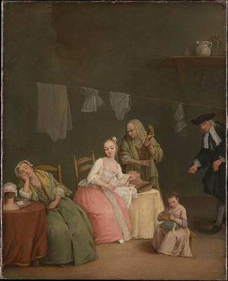 Pietro Longhi Painting - The Letter by Pietro Longhi