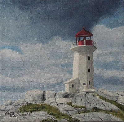 Wall Art - Painting - The Lighthouse by Lisa MacDonald