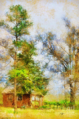Photograph - The Little Woodshop - Digital Paint by Debbie Portwood