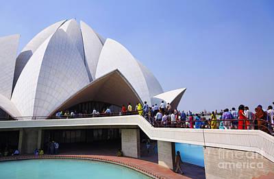 Bahai Photograph - The Lotus Temple Delhi by Robert Preston