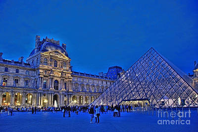 Photograph - The Louvre  by Allen Beatty
