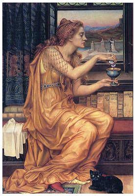 Pouring Painting - The Love Potion by Evelyn De Morgan