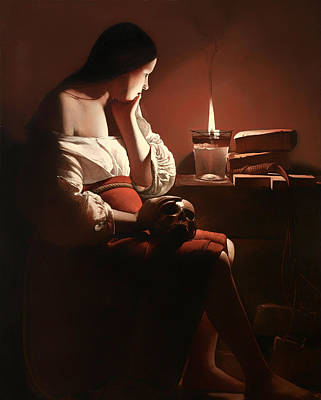 Reform Painting - The Magdalen With The Smoking Flame by Mountain Dreams