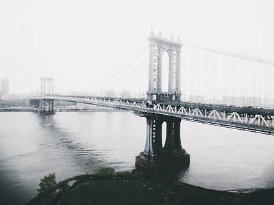 Cities Photograph - The Manhattan Bridge by Natasha Marco
