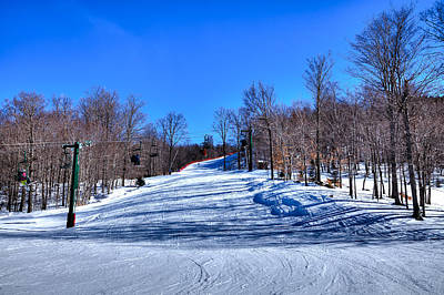 Photograph - The Mccauley Mountain Ski Area by David Patterson