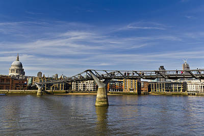 Abstract Male Faces - The Millennium Bridge by David Pyatt