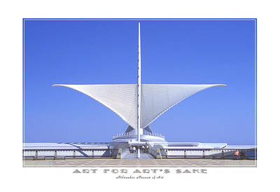 Milwaukee Art Museum Digital Art - The Milwaukee Art Museum by Mike McGlothlen