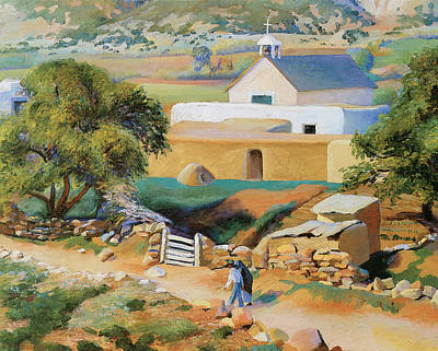 The Followers Photograph - The Mission Church by Kenneth Miller Adams