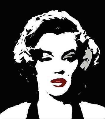 Lips Digital Art - The Monroe by Steve K