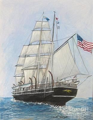 Whaling Drawing - The Morgan by Carol Veiga