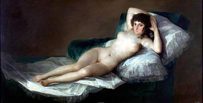 Boudoir Digital Art - The Naked Maja by Francisco Goya