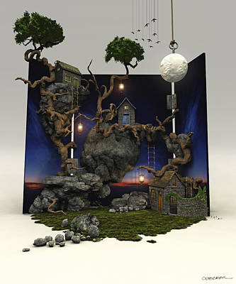 Village Digital Art - The Nature Of Things by Cynthia Decker