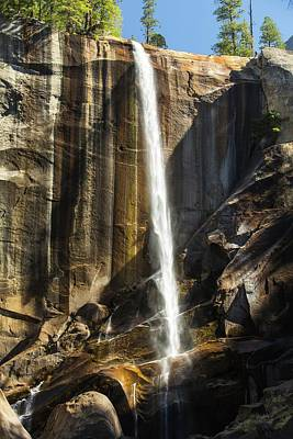 Fir Trees Photograph - The Nevada Fall Above The Yosemite by Ashley Cooper
