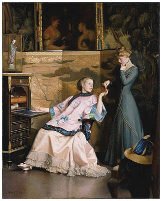 The New Necklace Art Print by William McGregor Paxton