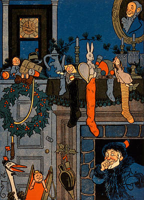 Christmas Eve Painting - The Night Before Christmas by Denlow