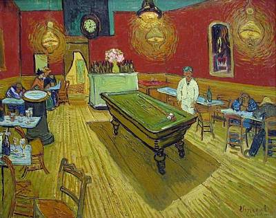 Yale University Painting - The Night Cafe by Vincent van Gogh